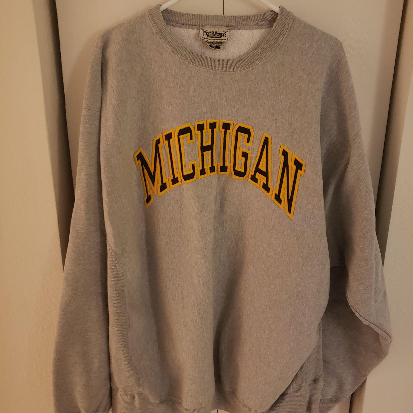 Sweatshirt, University of Michigan, XXL,
