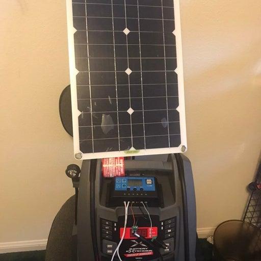 Solar 400W power station w 50W panel