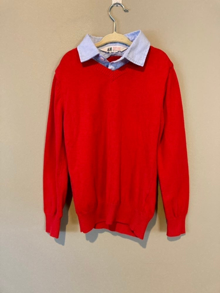H&M boys sweater with collar (6-8Y)