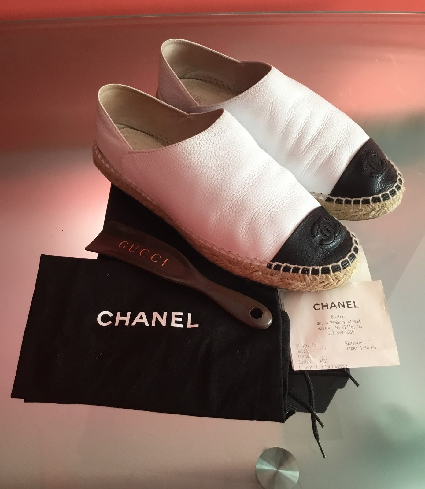 Chanel Leather/Calfskin Espadrille