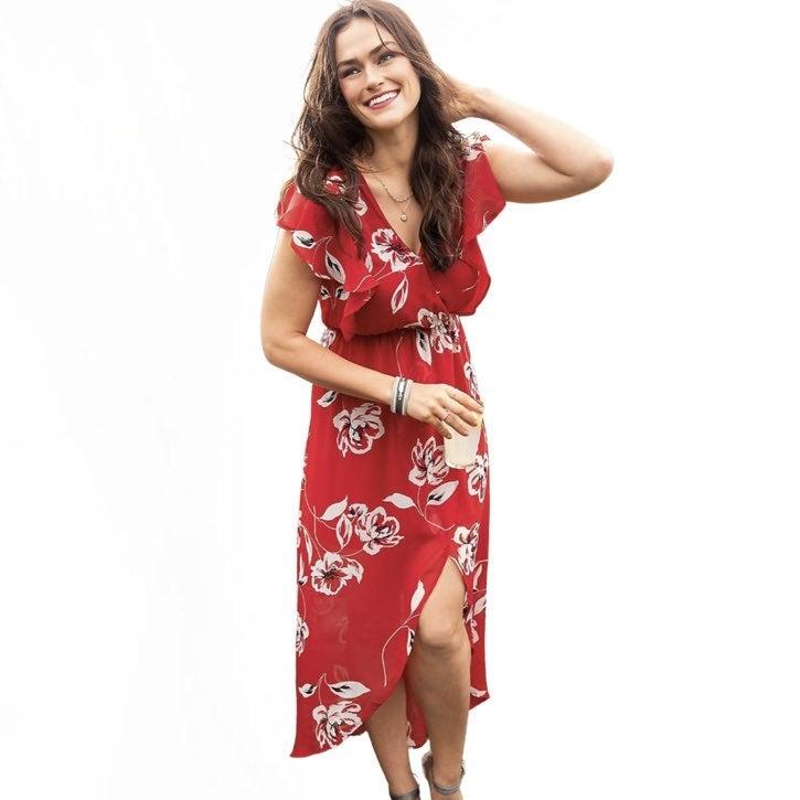 Maurices Floral Print V-neck Maxi Dress