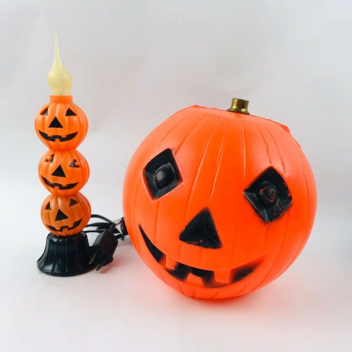vintage halloween blow mold pumpkin