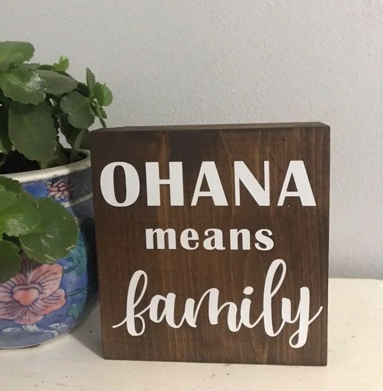 ohana means family farmhouse sign
