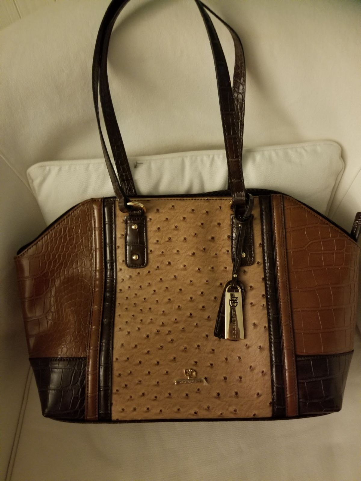 Large Brown/Tan New Directions Purse New