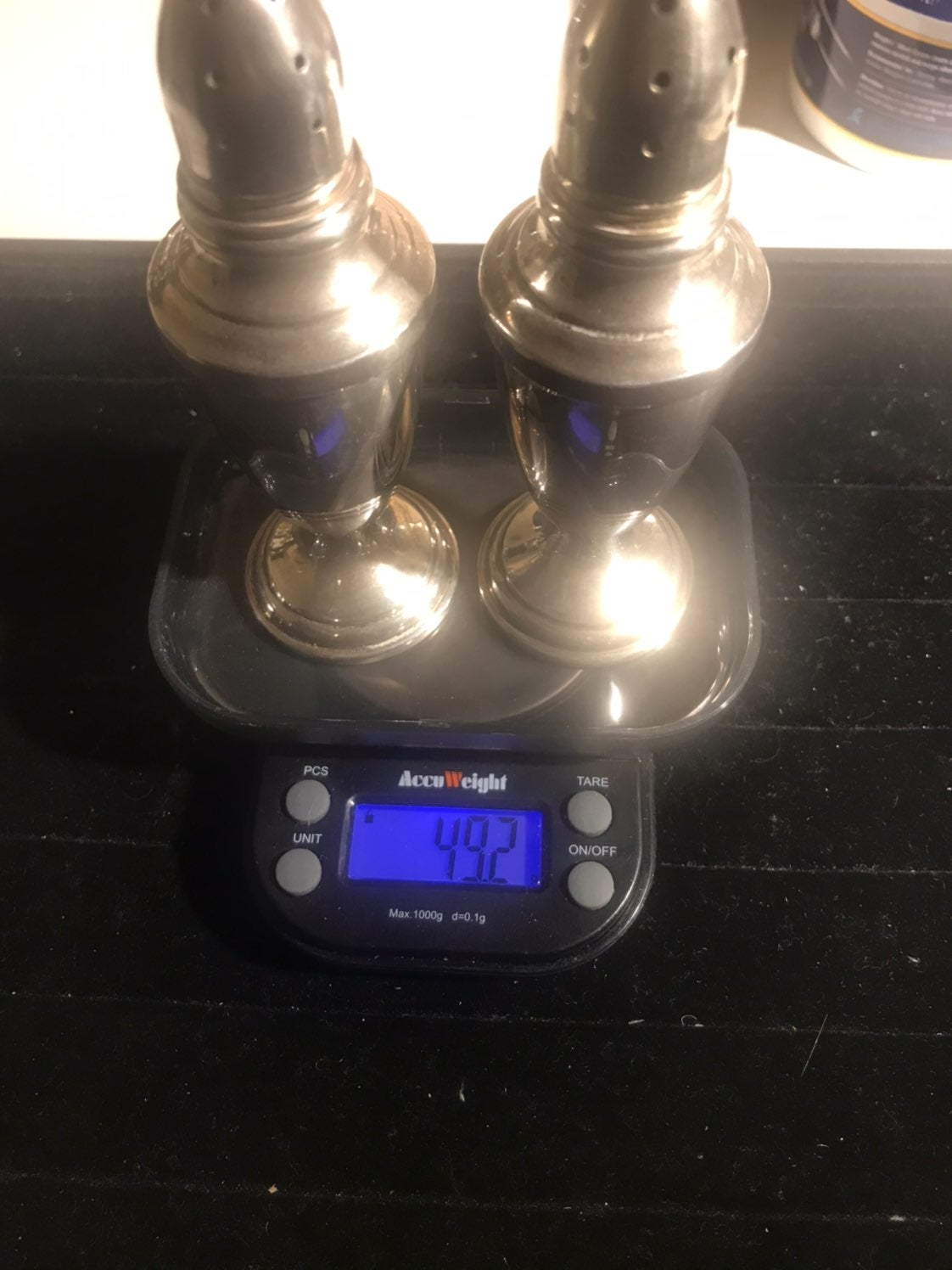 Towle silver shakers. Not weighted