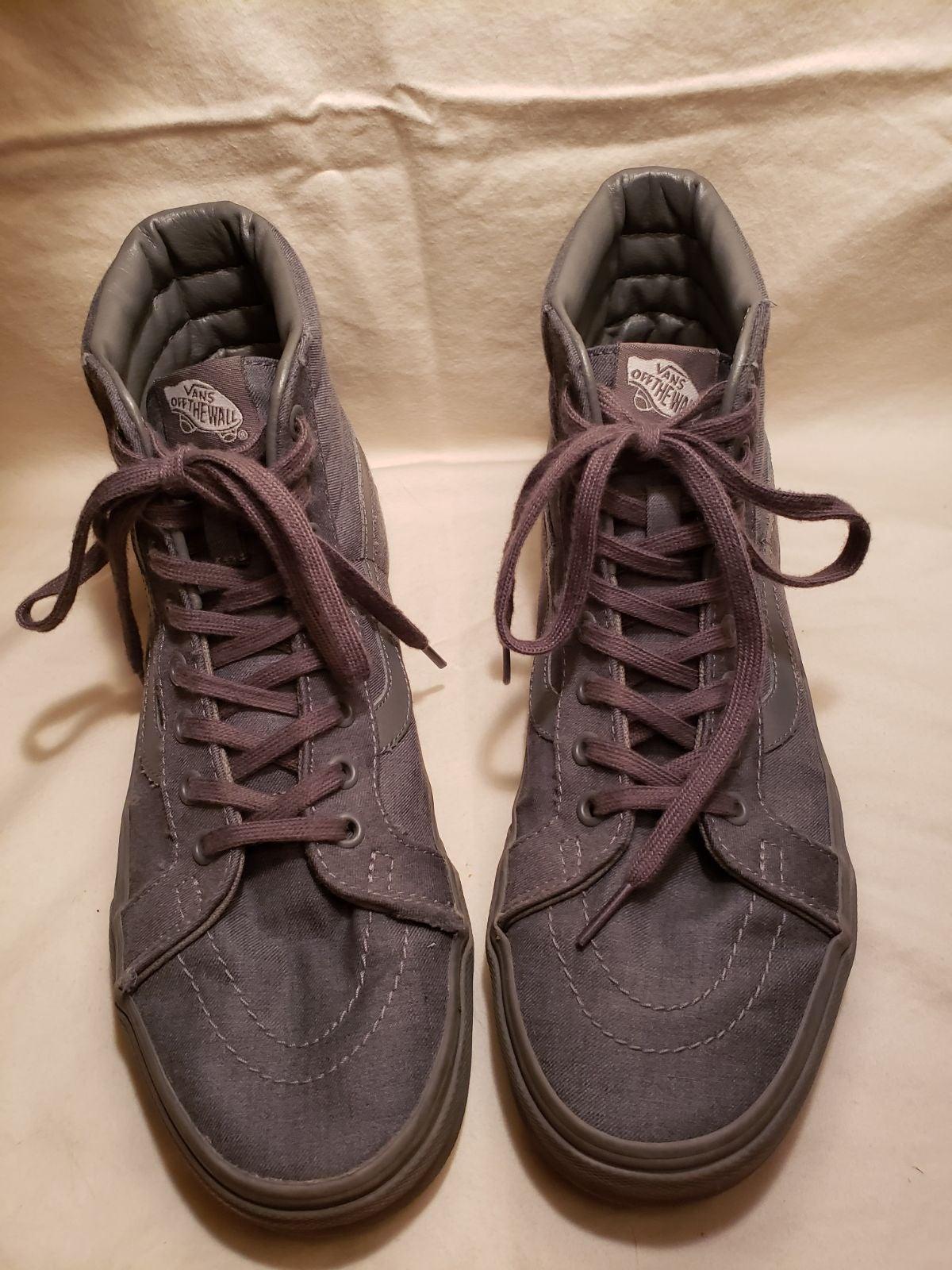 Van's Sk8-Hi gray laceup sneaker