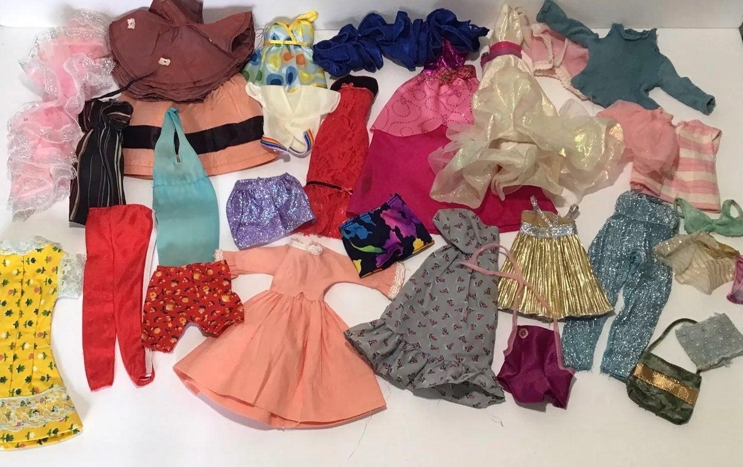 Vintage Mixed Lot of TLC Barbie Clothes