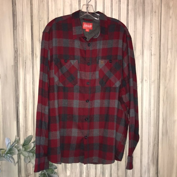 Coleman Red & Gray Flannel Shirt