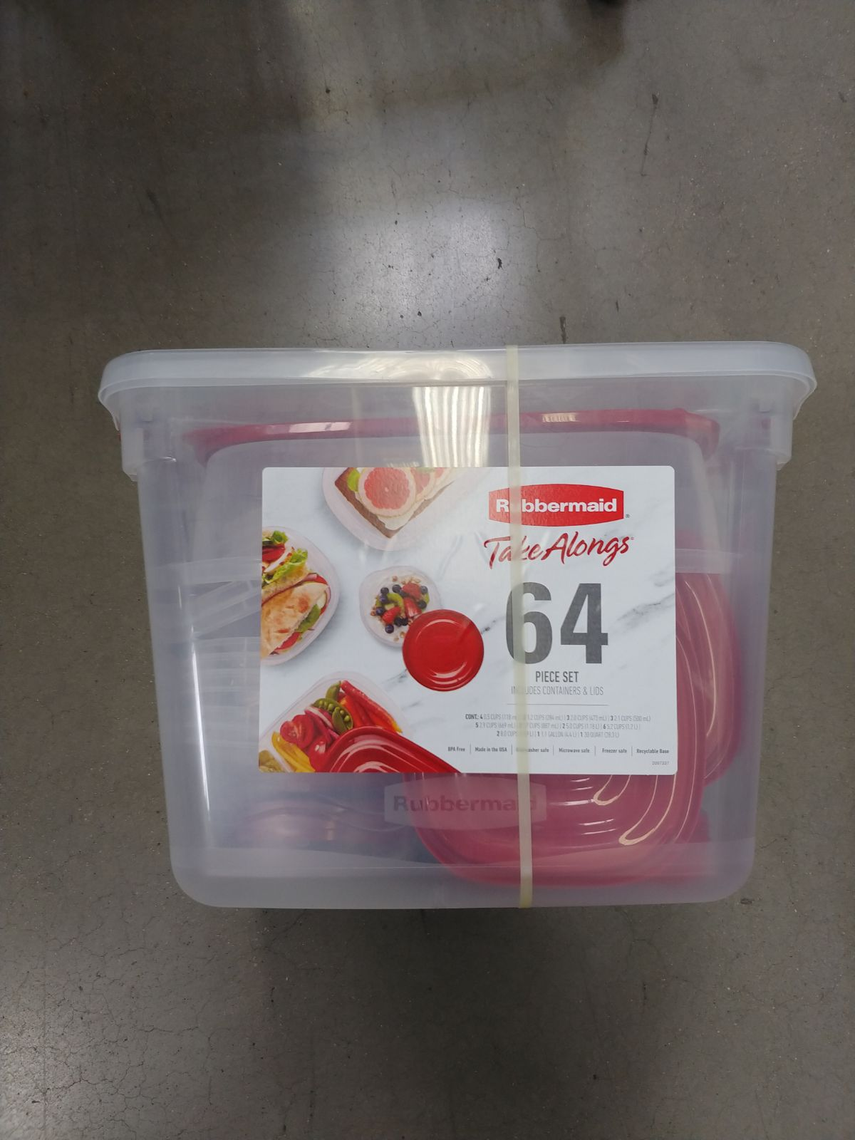 Rubbermaid Storage Containers 64pc Gift