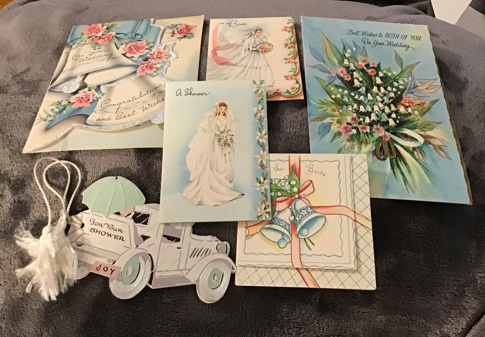 Cards,greeting,Bride Shower,vintage 6