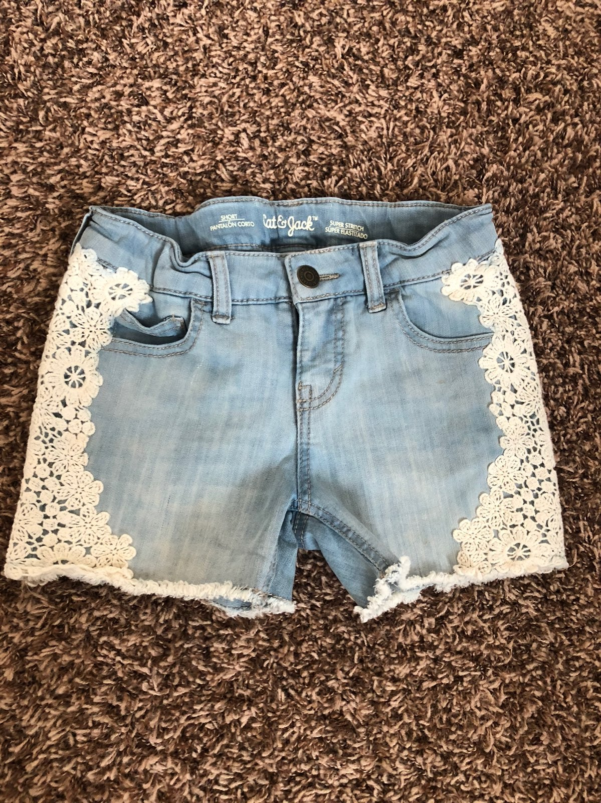 Girls cat & jack jean shorts
