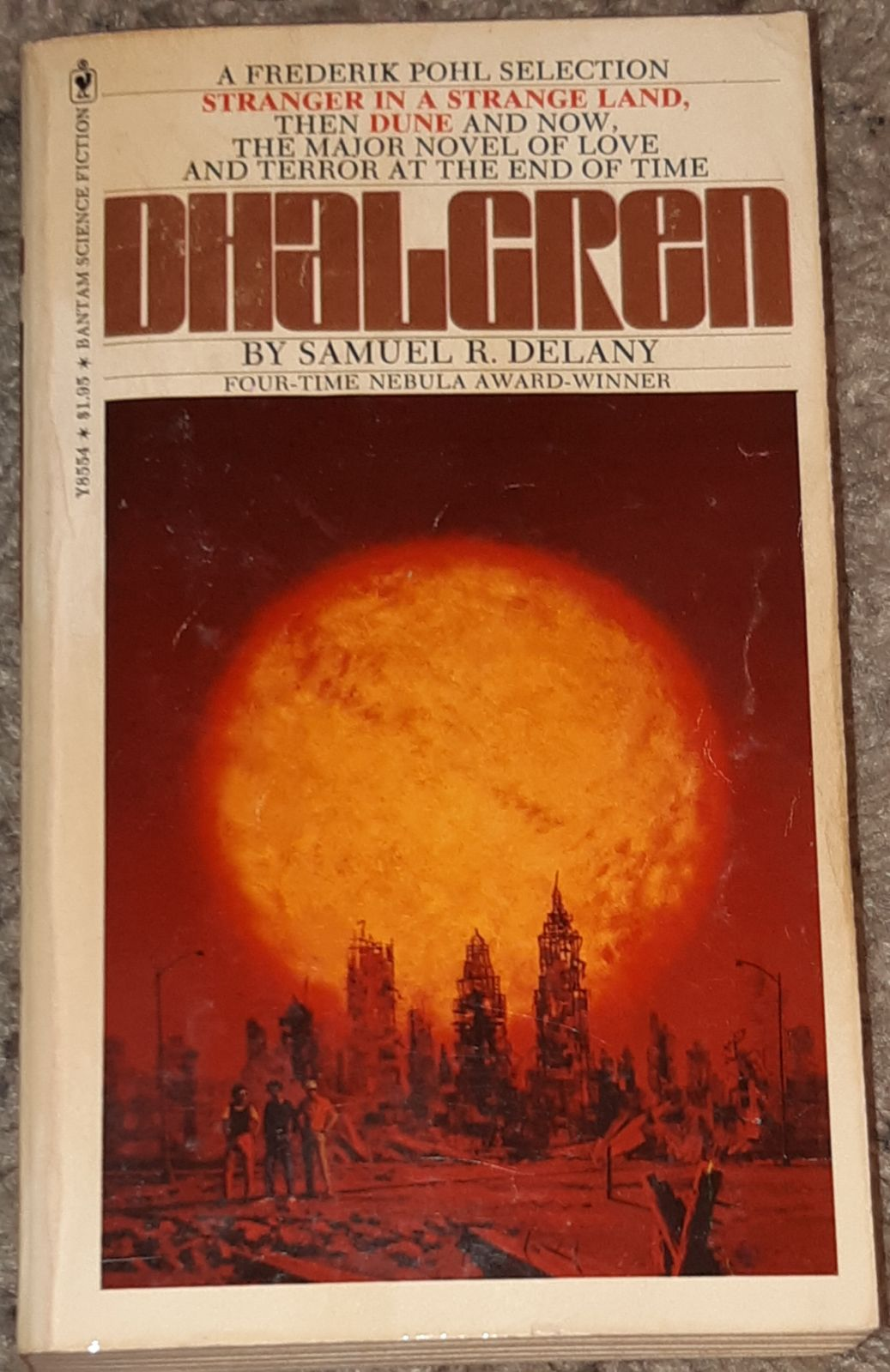 Dhalgren 1975 Paperback Samuel R. Delany