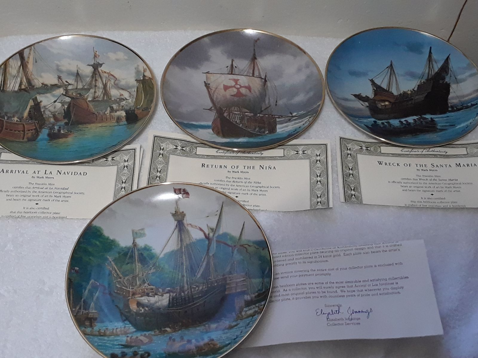 Franklin Mint The First Voyage Collector