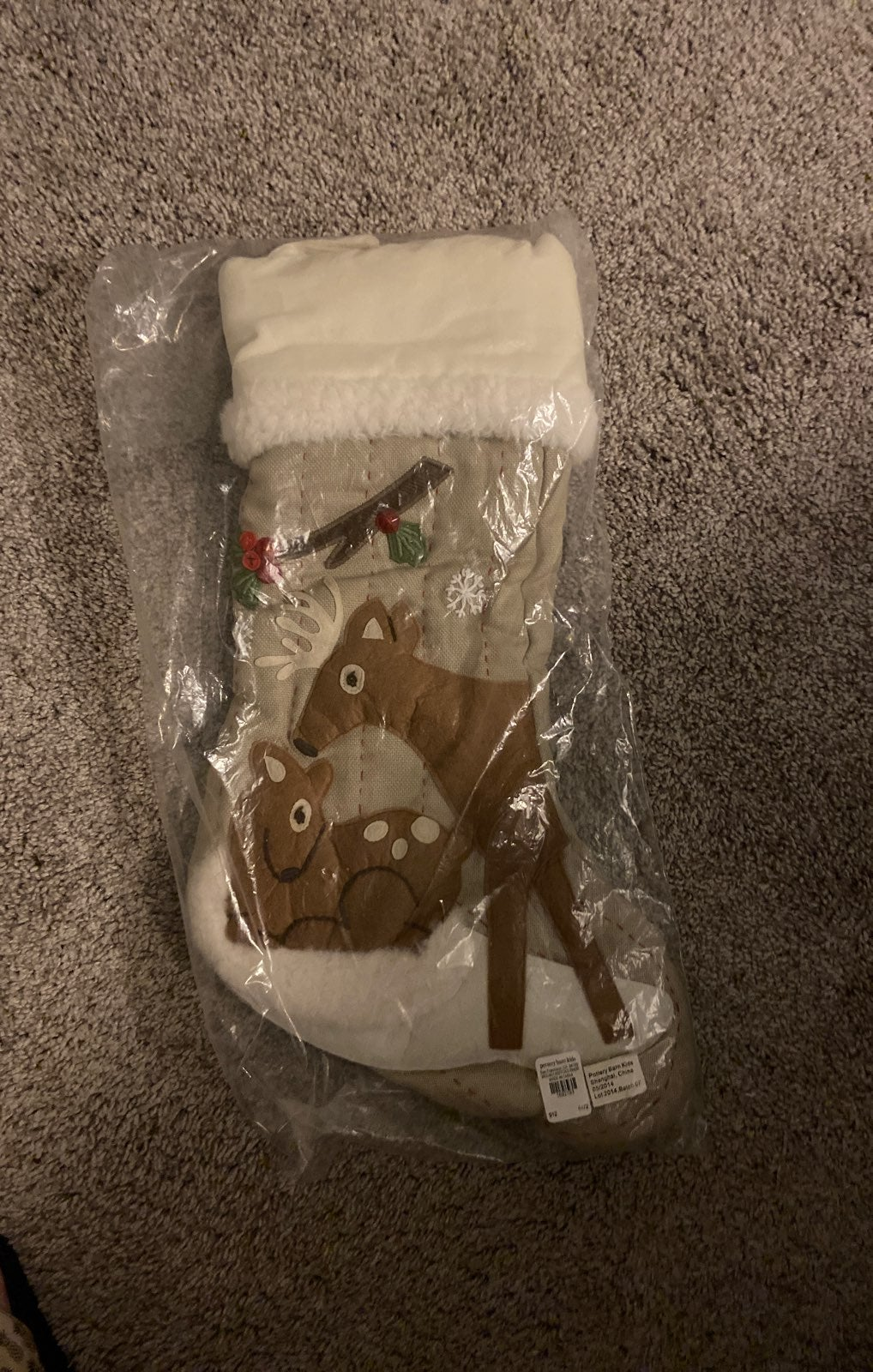 Pottery Barn Woodland Deer Stocking