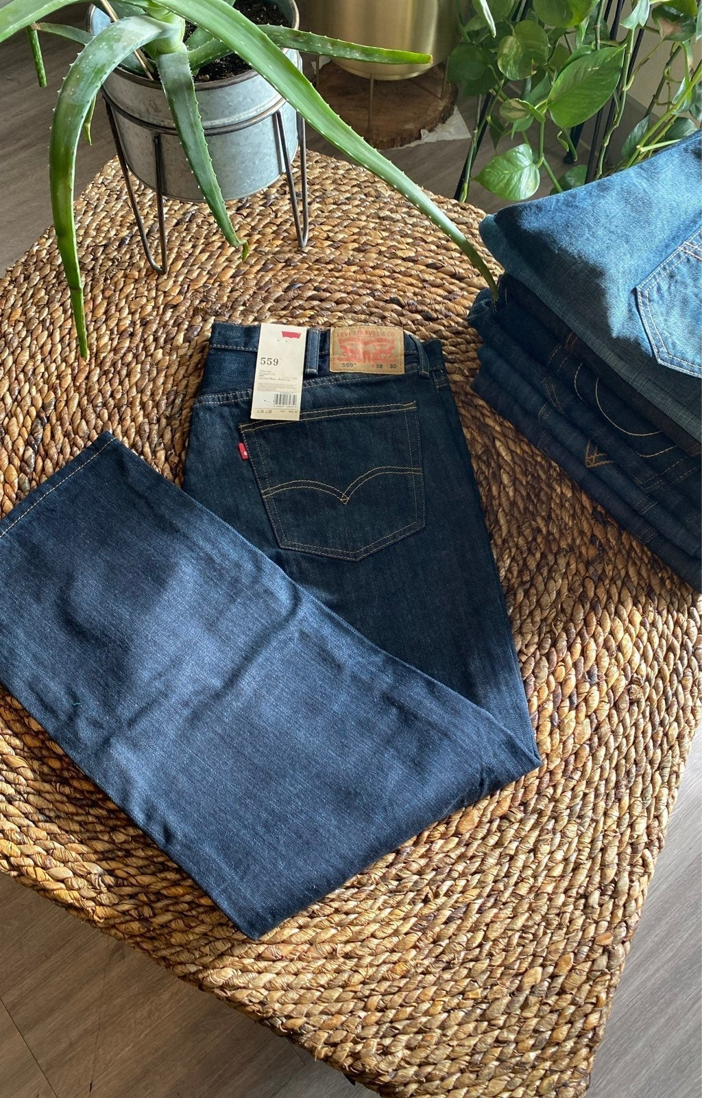 NWT levis relaxed straight 559 mens Jean