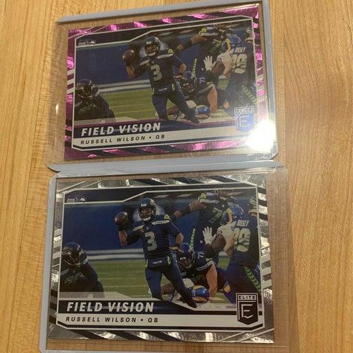 Russell Wilson Elite Field Vison cards