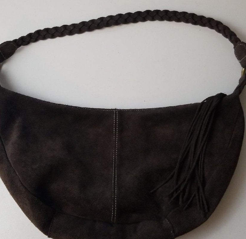 Dark Brown Suede Purse