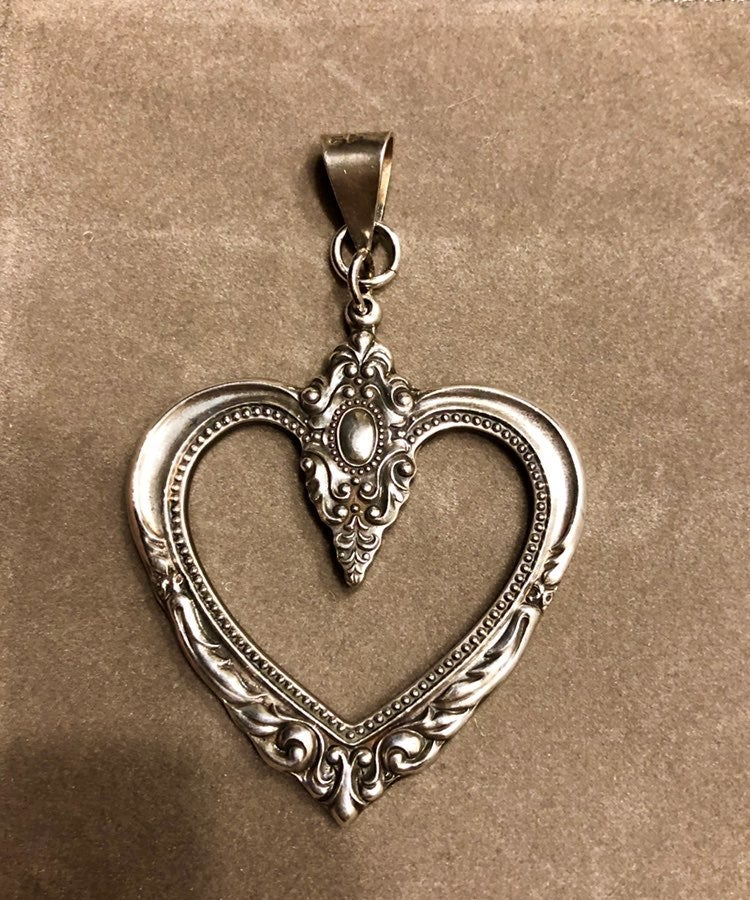 Towle Sterling Silver Heart Pendant Vint