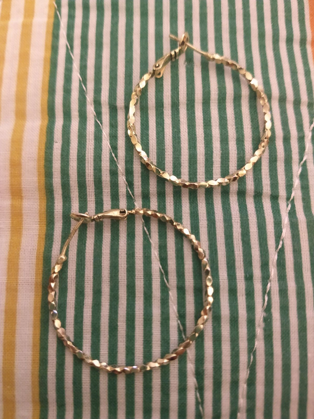 Gold Nugget Hoop Earrings