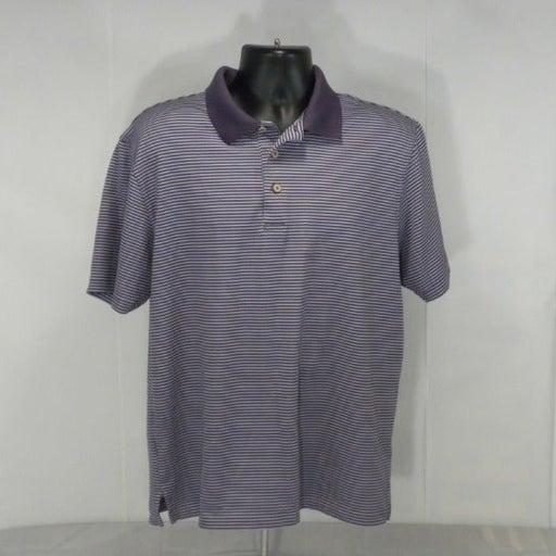 Cubavera Striped Golf Polo Shirt