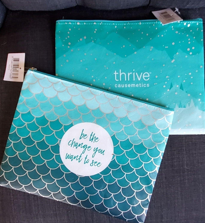 Thrive Causemetics Makeup bag x2 New