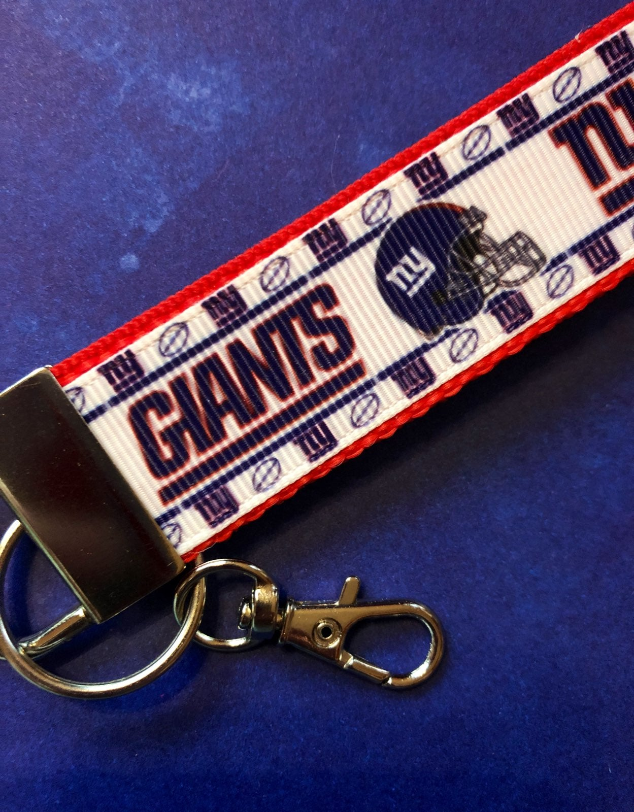NY GIANTS Key Ring Fob Keychain