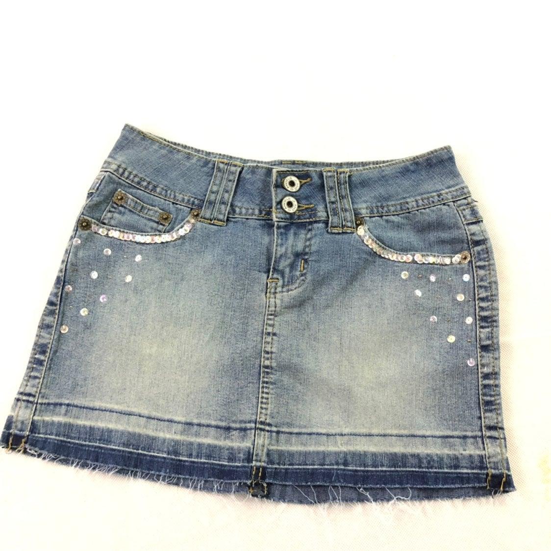 Angels Juniors Blue Jean Denim Skirt 1
