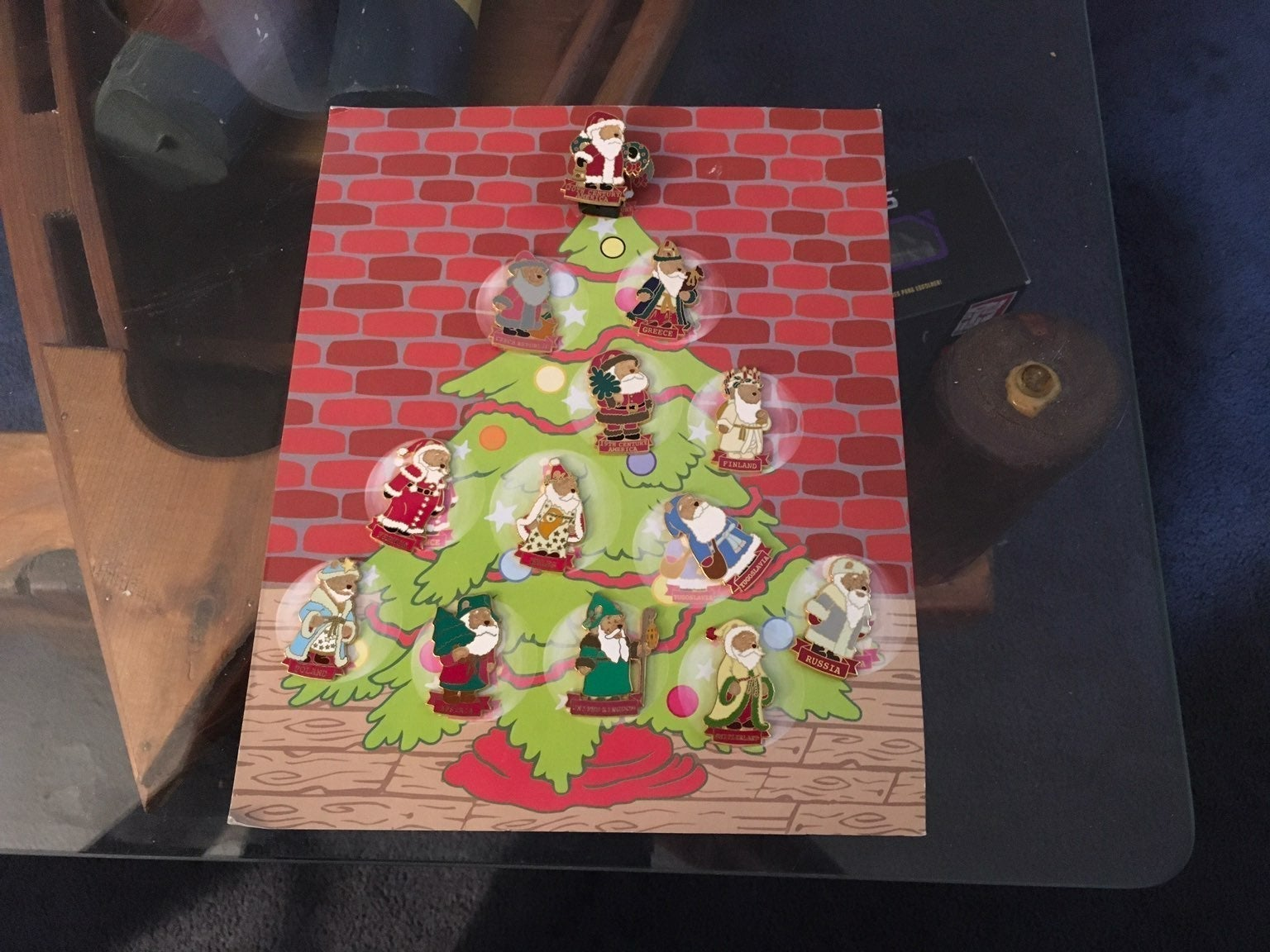 Winnie the Pooh Christmas Pins 20th cent