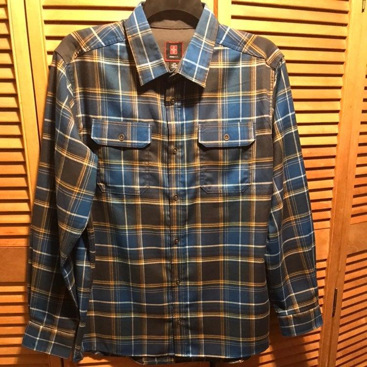 SwissTech Blue Plaid Shirt
