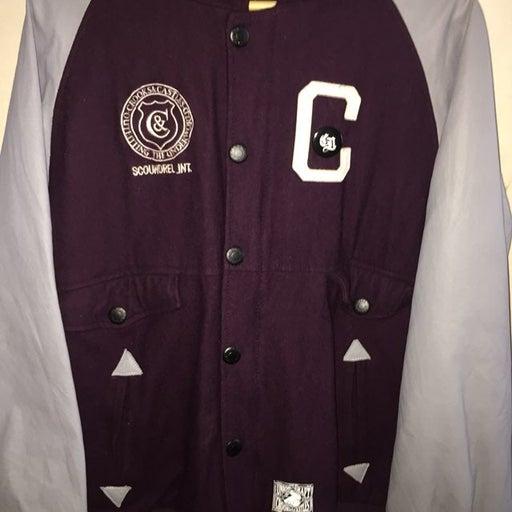 Crooks Castle Hooded Varsity Jacket