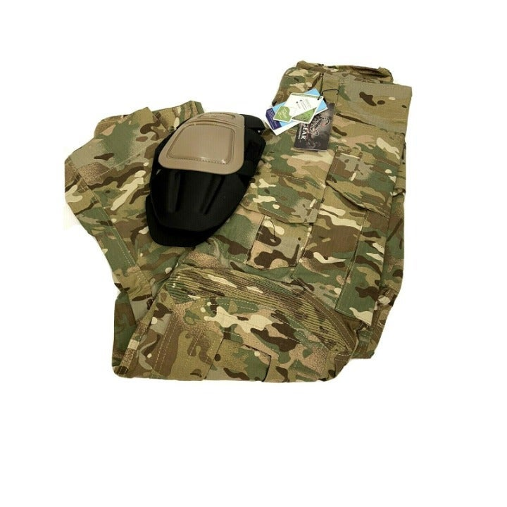 IDOGEAR Tactical Pants MultiCam Kneepads
