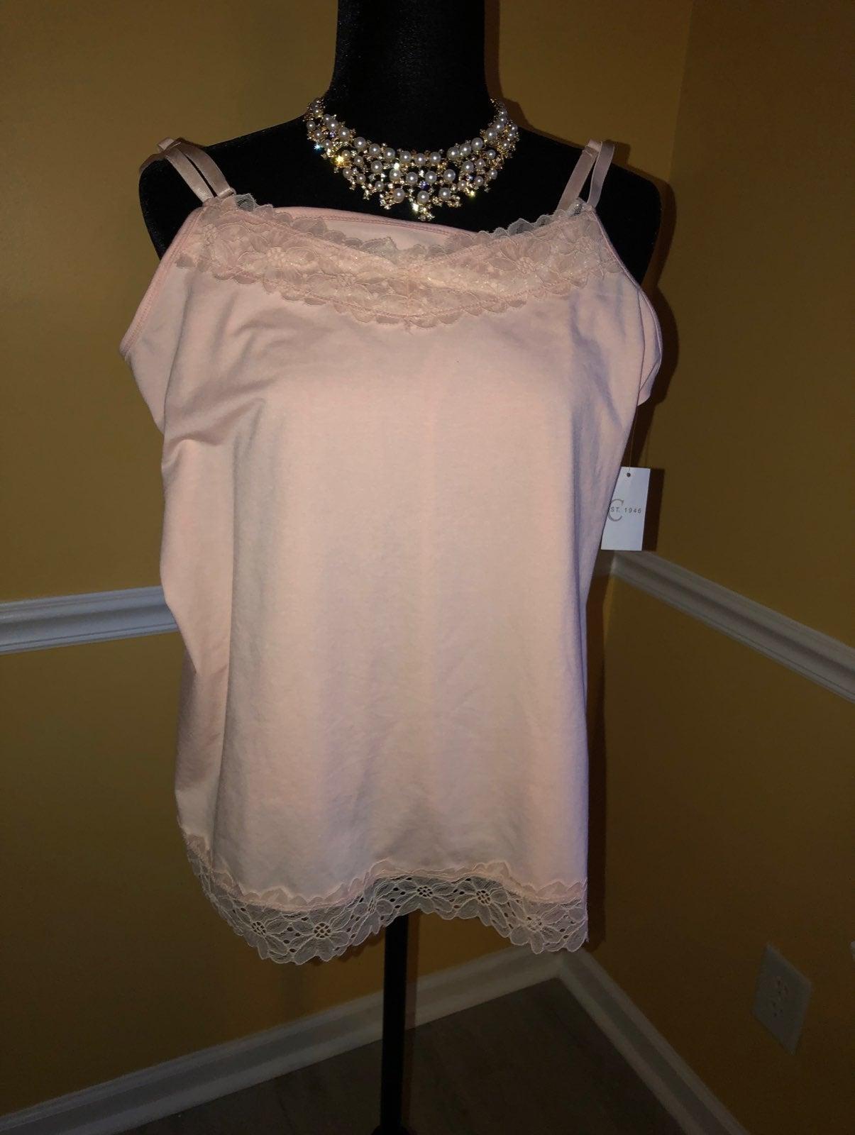 Lace Camisole Top w/Lace Hem
