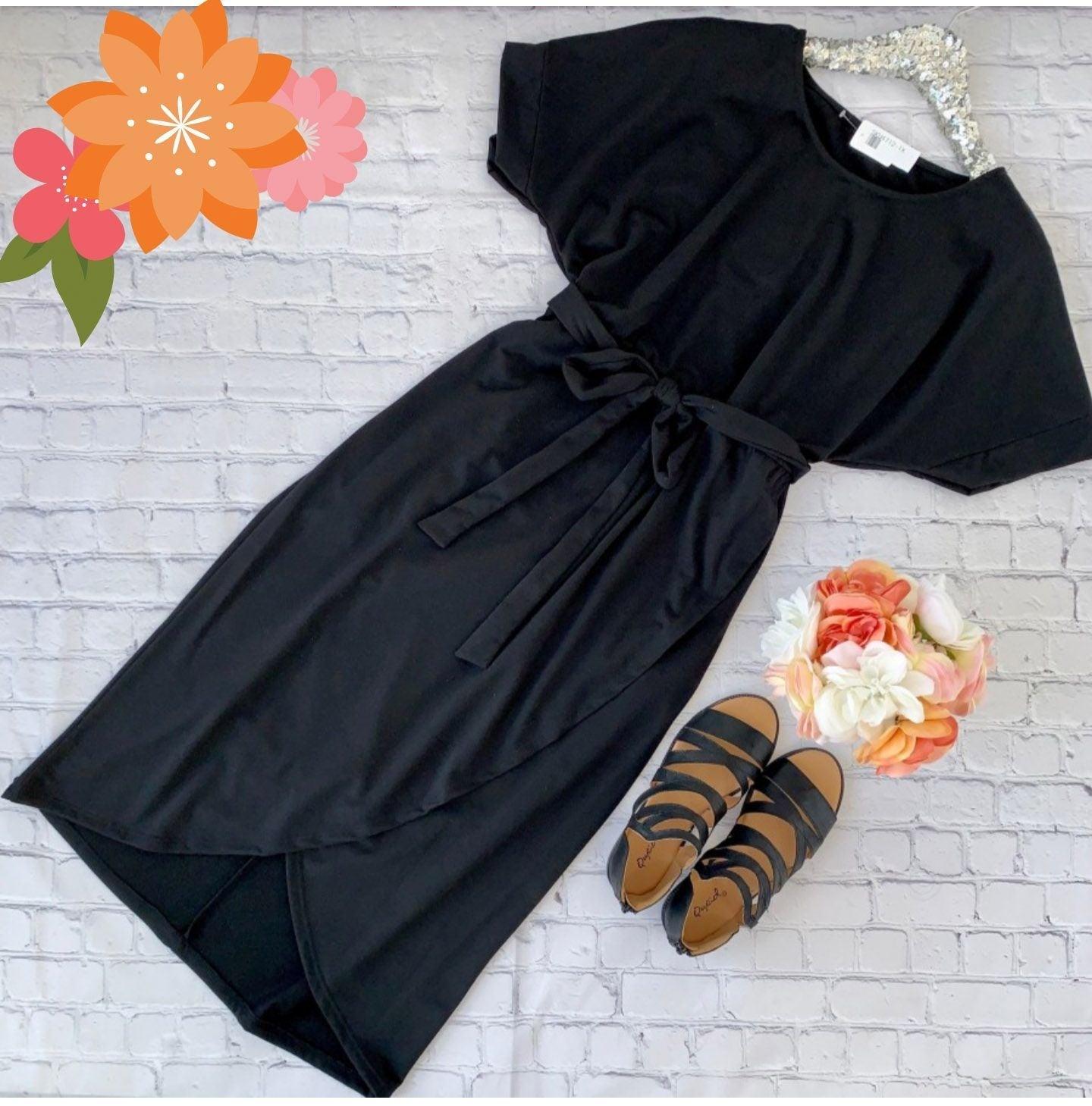 NWT Plus Size Midi Dress W/Wrap Skirt