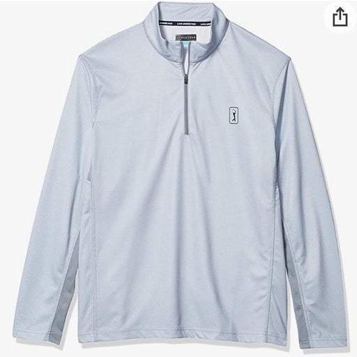 PGA TOUR Silver Quarter Zip Pullover Size XXL (NEW WITH TAGS!}