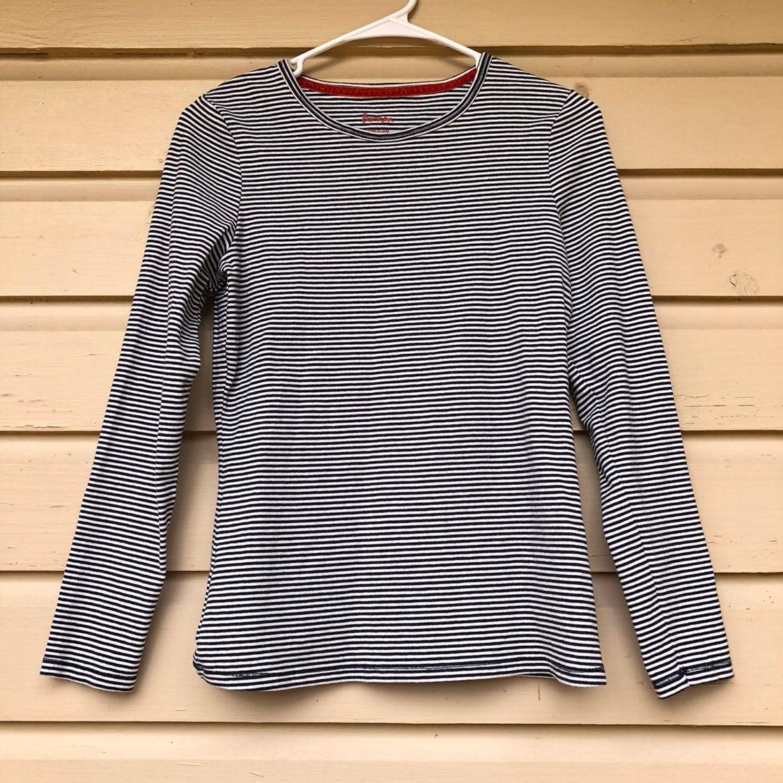 Boden Long Sleeve Striped Shirt Navy 10