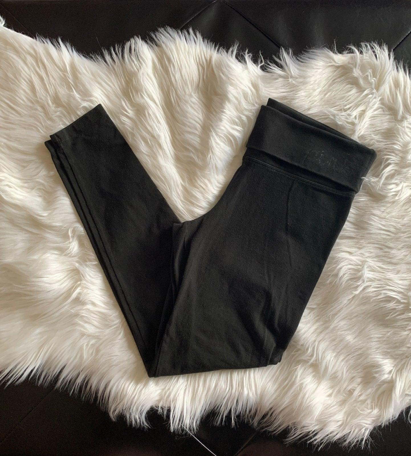 PINK black yoga pants size small