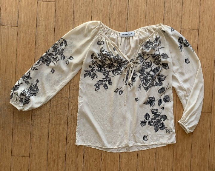 Lovely Boho silk blouse - Fifteen-Twenty