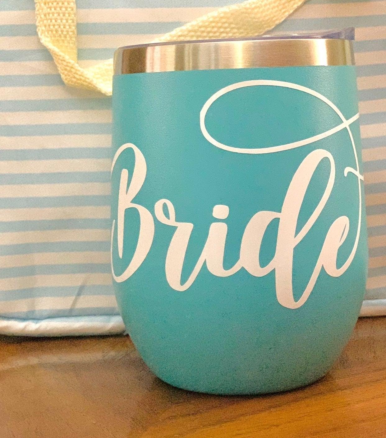 12 oz aqua bride tumbler new