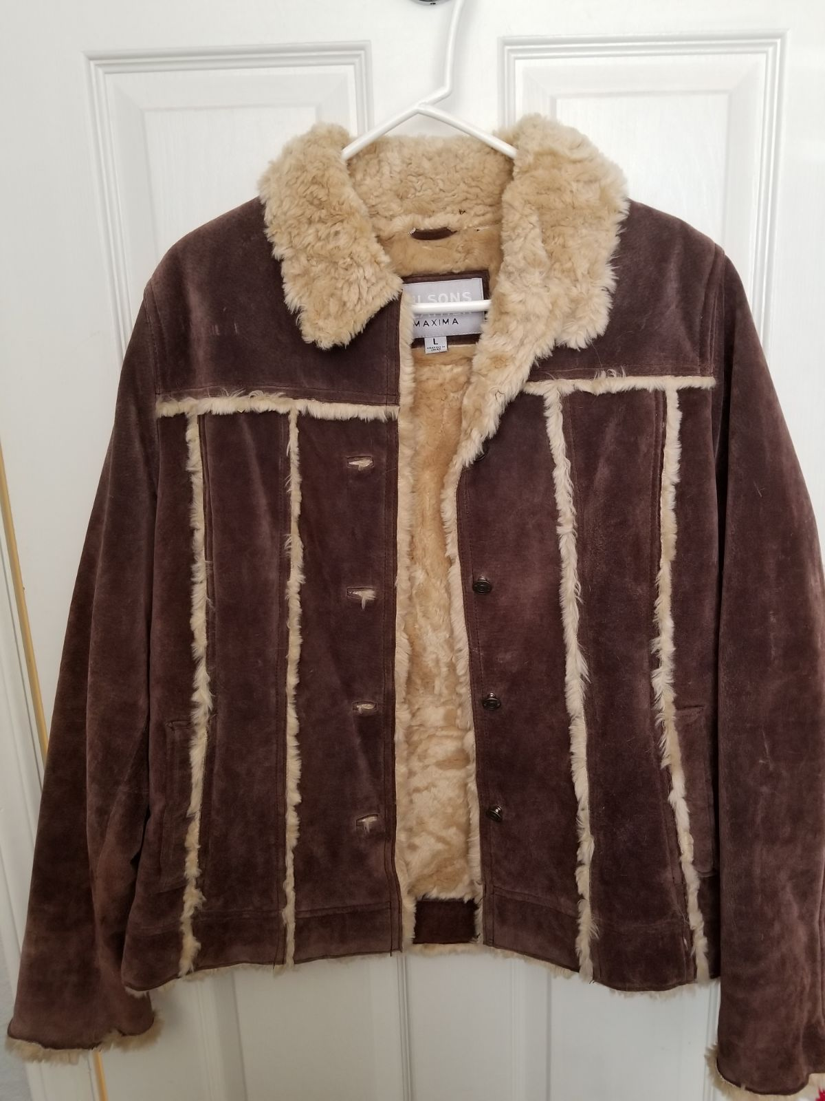 Suede/Leather jacket Size Lg