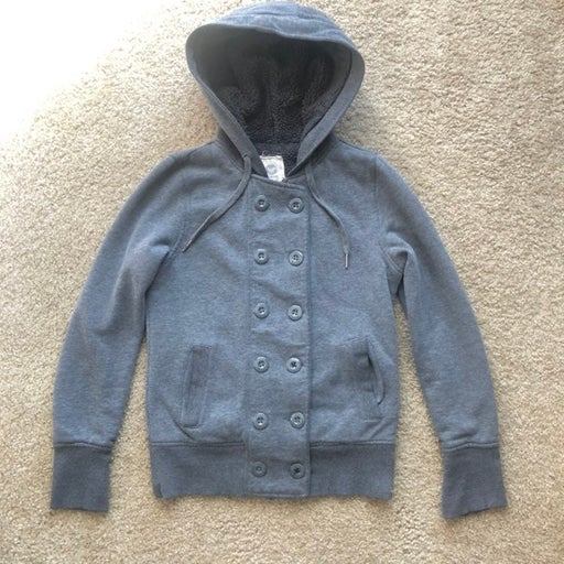 Gray Roxy Hooded Jacket Size XS