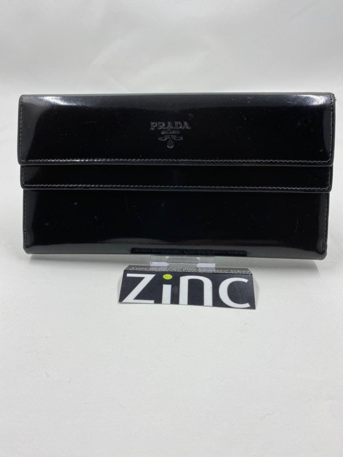 Prada Portatrucco Black Tessuto Wallet