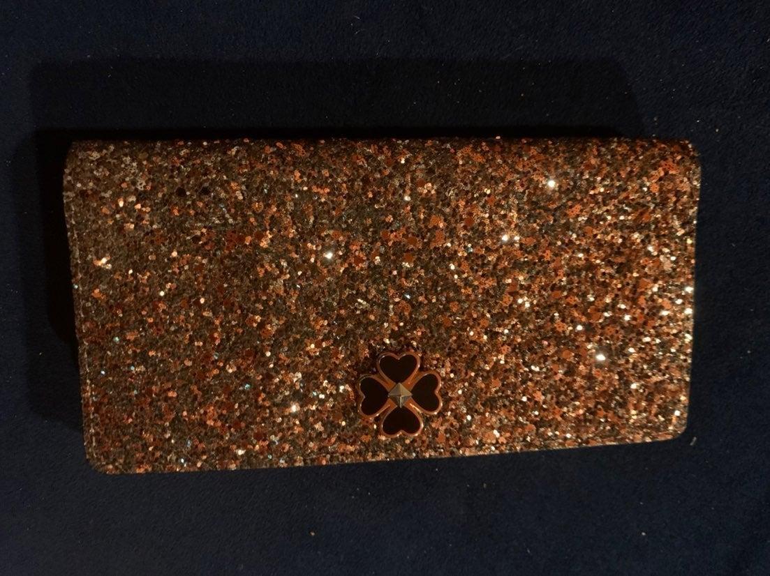 Kate Spade glitter slim billfold