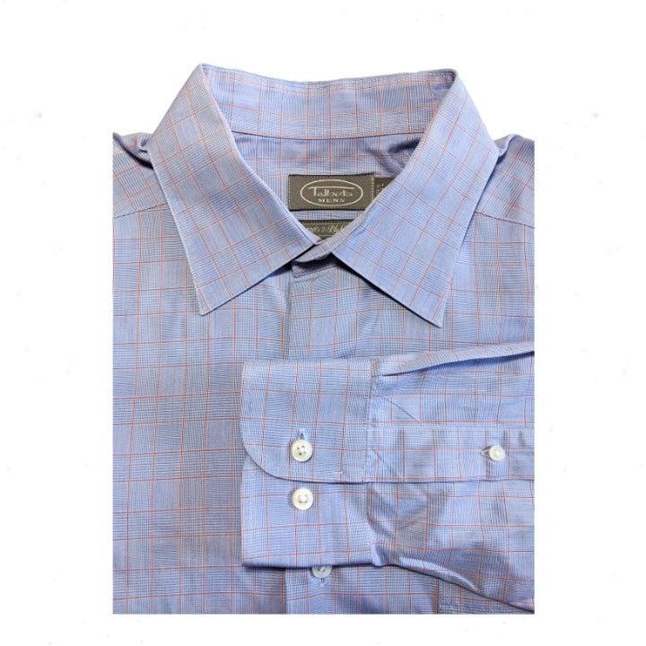 TALBOTS Tattersall Plaid Dress Shirt