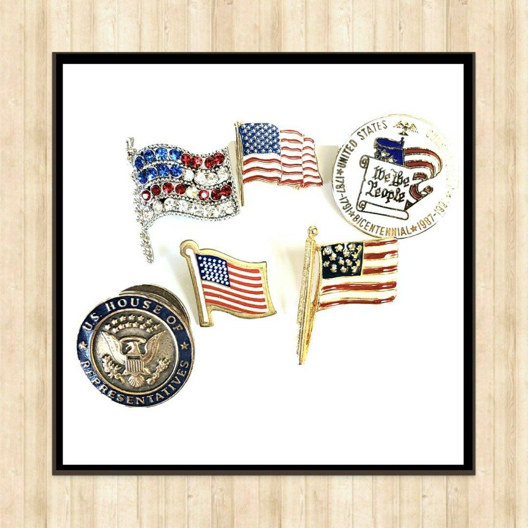 American Flag Pins Lot