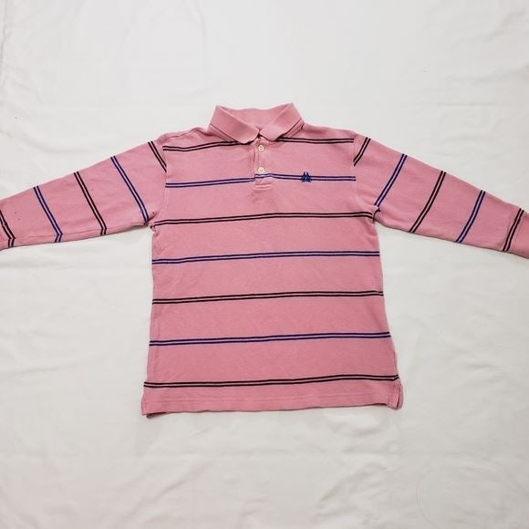 Old Navy Pink Striped Polo