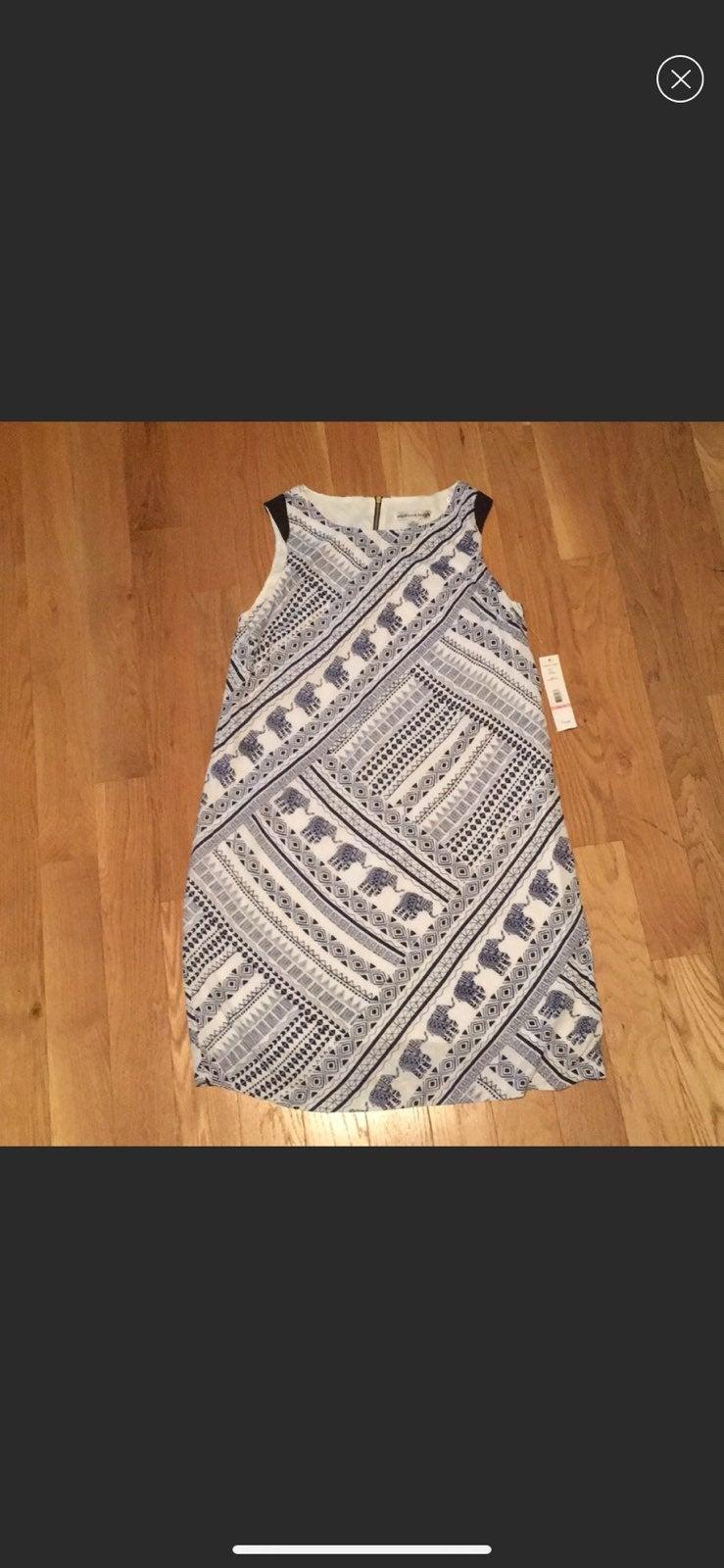 Madison Leigh Navy/Ivory Elephant Dress