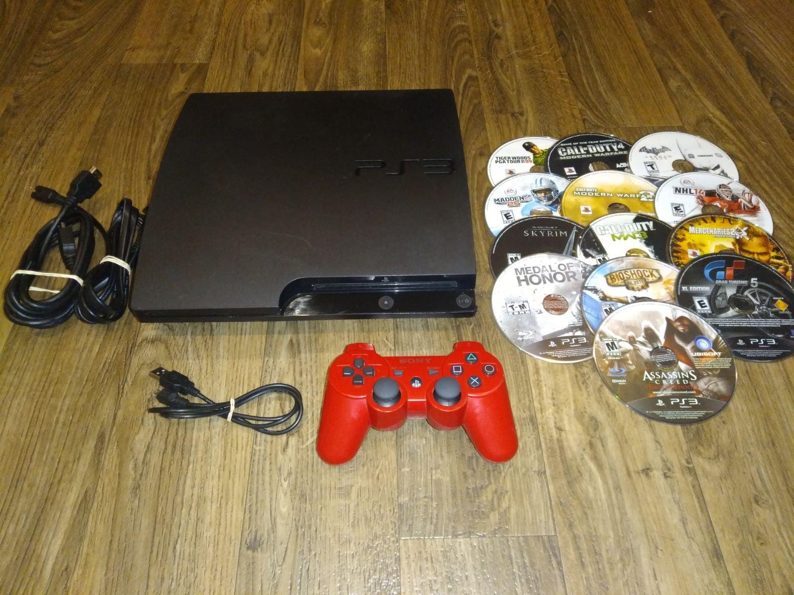 PS3 Slim Bundle 320gb + 13 Games