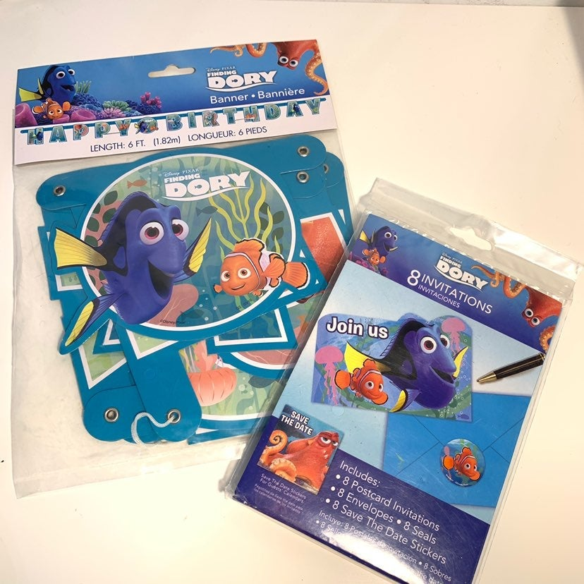 NEw finding Nemo Birthday Party Dory