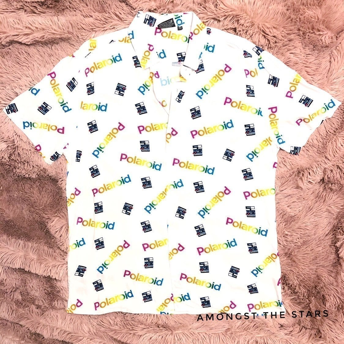 Polaroid Camera Logo Button Down Shirt