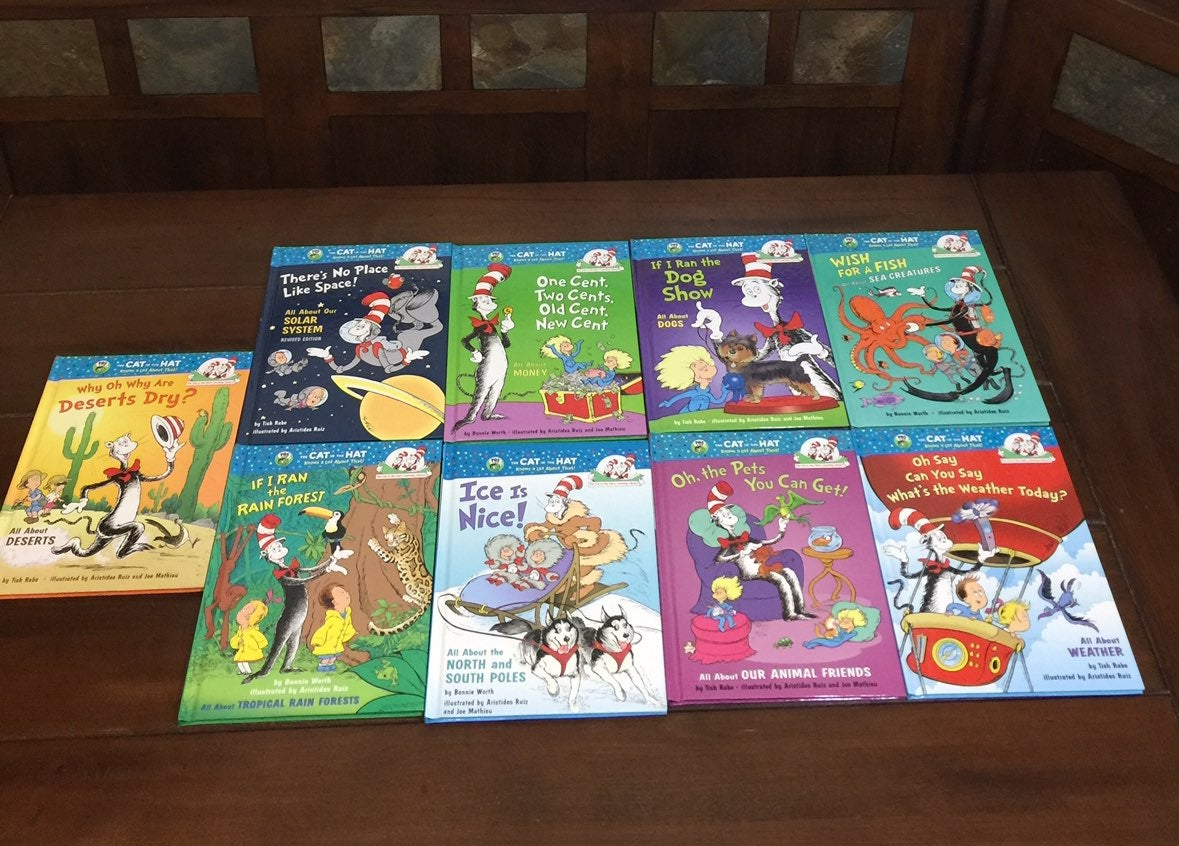 Set of 9 Cat in the Hat Learning Library